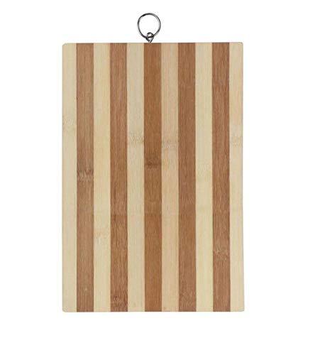 Vetrineinrete® tagliere in legno di bambù zebrato per aperitivo vassoio taglieri per servire salumi formaggi affettati antipasti varie misure 99433 (30x20x1,7 cm) b48