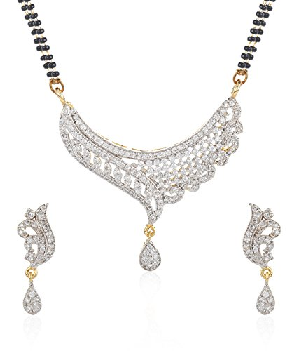 Jewels Galaxy Imperial American Diamond Mangalsutra Set For Women