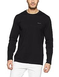 Monte Carlo Mens Solid Regular Fit T-Shirt (217039917-1_Black_42)