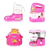 #5: SUPER TOYS Battery Operated Mini Household Kitchen Sets Toys for Baby Girl's