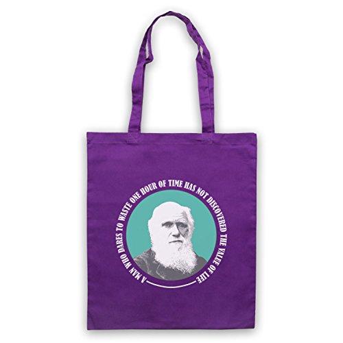 Charles Darwin Valore Della Vita Umhangetaschen Violett