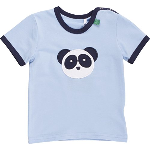 Fred's World by Green Cotton Baby-Jungen T-Shirt Panda Front T Baby Blau (Navy 019392001), 98