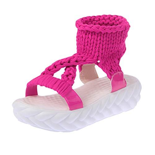Scarpe Donna Sneakers ?? Vovotrade ?? morbide Suola Accogliente per Donna Sandali con Zeppa Estiva Comfort Plus Size Scarpe Intrecciate Casual