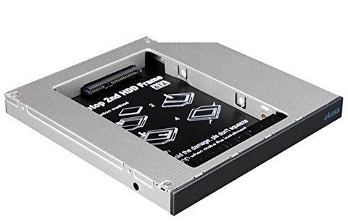Akasa N.Stor Festplattengehäuse (6,3 cm (2,5 Zoll), Konvertiert SATA-Festplatte an Laptop IDE ODD Bay) schwarz (Laptop Ide Festplatte)
