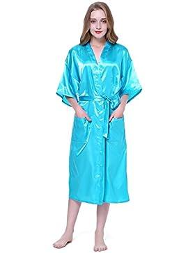 HonourSport Kimono Robe da donna di colore puro
