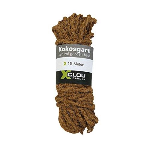 Xclou Corde en fibre de noix de coco - Ficelle de jardinage en noix de coco - Fil en fibres de coco - Liens d'attache pour arbres et arbustes 15 m