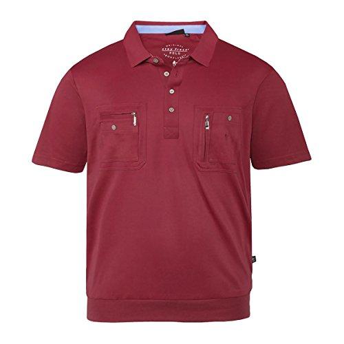 Hajo XXL Kurzarm-Trekking-Poloshirt rot Rot