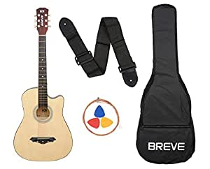 Breve BRE-38C-NT Acoustic Guitar with Bag (Natural)