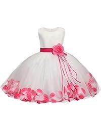 ZhuiKunA Niña Costura Boda Cumpleaños Ceremonia Princesa Vestidos ...