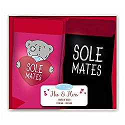 Me To You Bear His & Hers Sole Mates Me To You Boxed Socken Set