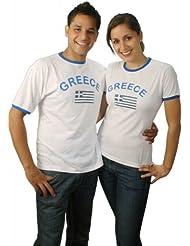 BRUBAKER Griechenland Fan T-Shirt Weiß Gr. S - XXXL