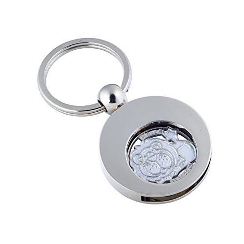 Preisvergleich Produktbild Hochwertiger Schlüsselanhänger mit Einkaufswagenchip Sternzeichen LÖWE