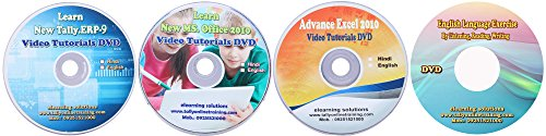 Tally ERP 9 + MS-Office 2013 + Advance Excel with Tutorials + English Language Video Tutorial DVD in English