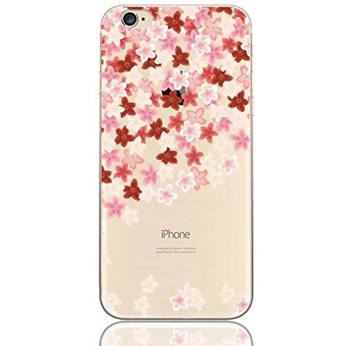 Sunroyal iPhone 5SE SE / 6C Hülle Rose Gold TPU Case Schutzhülle Silikon Rückseite Klar Clear Case Durchsichtig Bumper Zurück Bling Crystal Kirstall Diamant Strass Rhinestone Frame Rahmen Design 18