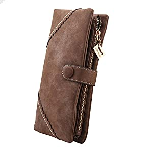 TechSmile® Fashion Leather Wallet Button Purse Lady Long Women's Handbag