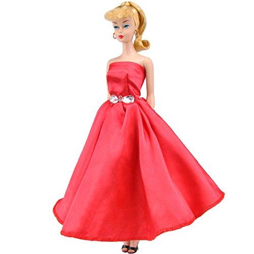 E-TING Hochzeit Kleid Handgemachte Kleidung für Mädchen Doll(Doll & Shoes Nicht enthalten) (Rosa...