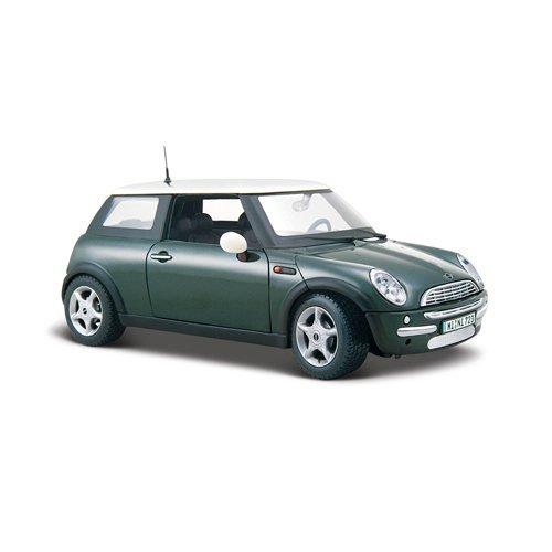 maisto-2042975-maquette-de-voiture-mini-cooper-metallique-vert-echelle-1-24