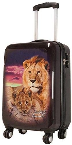 Lion Taille XL carbone/100% rigide Valise à roulettes en polycarbonate Case FA. Valise bowatex