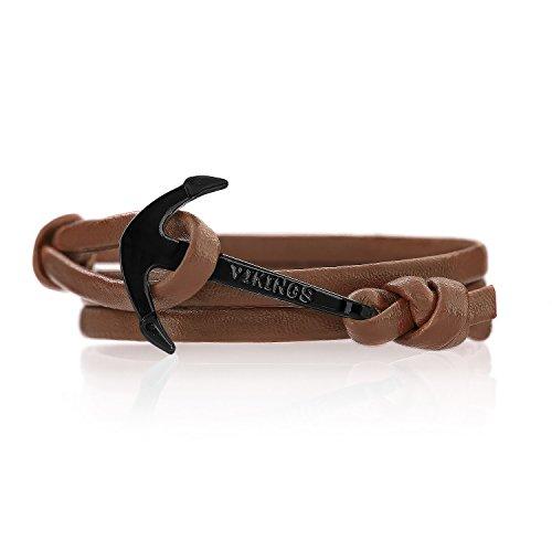 anchor-bracelet-leather-flying-dutchman-ancre-cuir-bronzage-bijoux-fantaisie-ankerfarbeschwarz