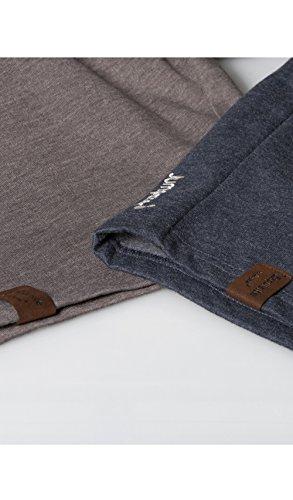 JUMPSTER Shorts EXQUISITE Herren kurze Jogginghose, lässige Sweatpants, melierte Freizeithose MADE IN EU Exquisite Blue