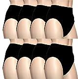 BestSale247 5 l 10 l 20 Stück Damen Mikrofaser Slips Unterwäsche Taillenslips (48-50, Schwarz / 5 Stück)