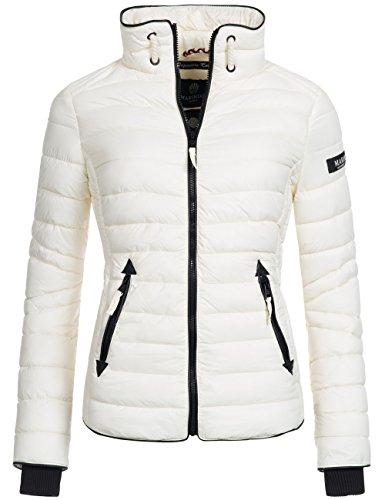 Marikoo Lola, veste matelassée pour dame mi-saison Blanc