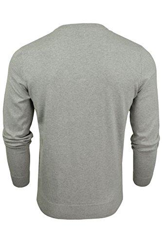 Tokyo Laundry Herren Havas V-Ausschnitt-Pullover, Strickpullover, Baumwollpullover Hellgrau (Light Grey Marl)