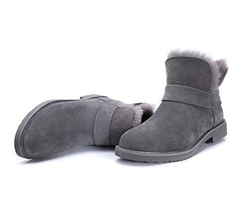 MEILI Scarpe da donna, stivali da donna, più cashmere, caldo, tubo corto, stivali, stivali invernali, stivali da neve, tempo libero, sport, moda 004