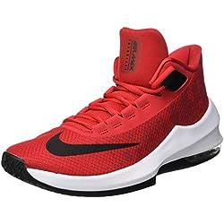 Nike Air MAX Infuriate 2 Mid, Zapatos de Baloncesto para Hombre, Rojo (University Red/Black/White 600), 45.5 EU