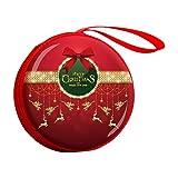 Qinlee Natale Tin Box Portamonete Confezione regalo Candy-Box Bambina Portafoglio Coin Purse rotondo portagioie fioriera Rot18 7 * 3cm