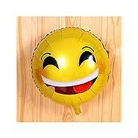 GYFC 1Pcs 18Inch Funny Emoji Balloons Aluminum Film Balloons Children Kids Birthday Party Decorations Balloons