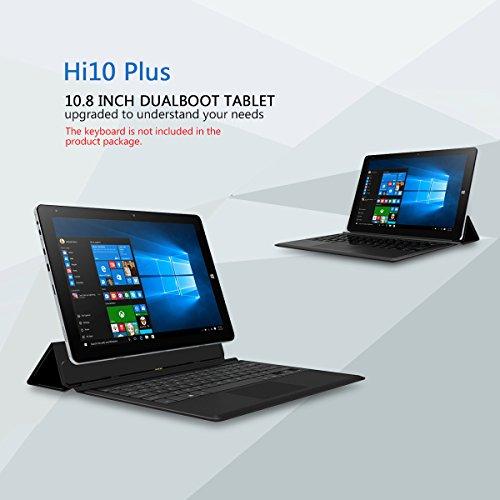 "CHUWI HI10 PLUS 10.8""Zoll Tablet PC 1920*1280 Win10+Android5.1 Dual System Intel Z8350 Quad Core 1.44GHz 4GB RAM/64GB ROM 2,0MP Dual Kamera WIFI BT External 3G Tablet OTG G_sensor HD Tablet"