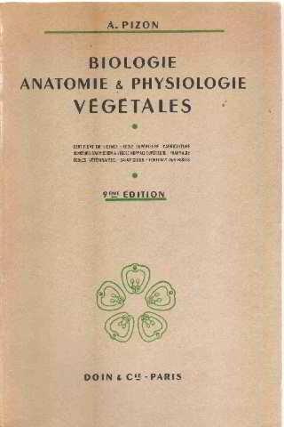 Biologie anatomie physiologie vegetales