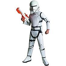 Star Wars - Disfraz niños deluxe Flametrooper - 3 piezas-Mono, cinturón y máscara-Color blanco - M
