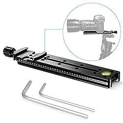 Neewer 200mm Professional Schiene Kamera Slide Metall Quick Release Clamp für Kamera mit Arca Swiss