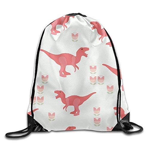 Etryrt Prämie Turnbeutel/Sportbeutel, Cute Pink Dinosaur Print Drawstring Backpack Rucksack Shoulder Bags Gym Bag Sport Bag