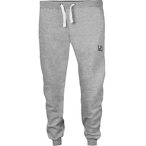 urban air   Athleisure One   komfortable Jogginghose, Sporthose, Sweatpants   Herren   für Fitness und Freizeit   grau, schwarz   S, M, L