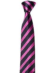 MAILANDO Schmale Krawatte 5.5 cm, Slim Tie, versch. Farben schwarz – grau – anthrazit – rot – blau