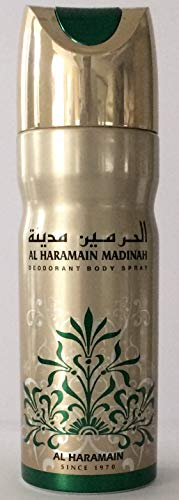 Al Haramain Parfums Madinah Deodorant Body Spray, 1er Pack (1 x 1 Stück) -