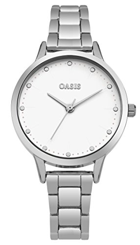 Oasis-Womens-Quartz-Watch-with-White-Dial-Analogue-Display-and-Silver-Alloy-Bracelet-SB003SM