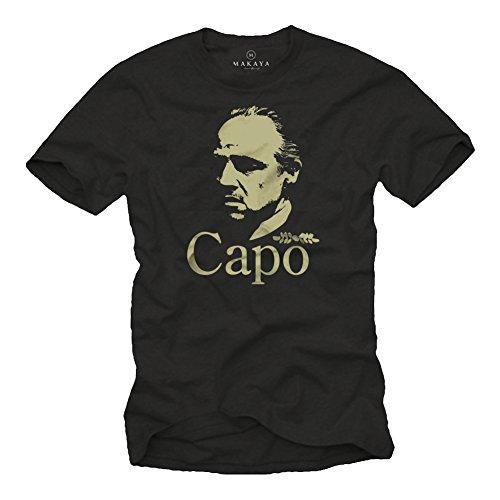 Mafia T-Shirt für Herren MARLON BRANDO DER PATE schwarz Größe XXL