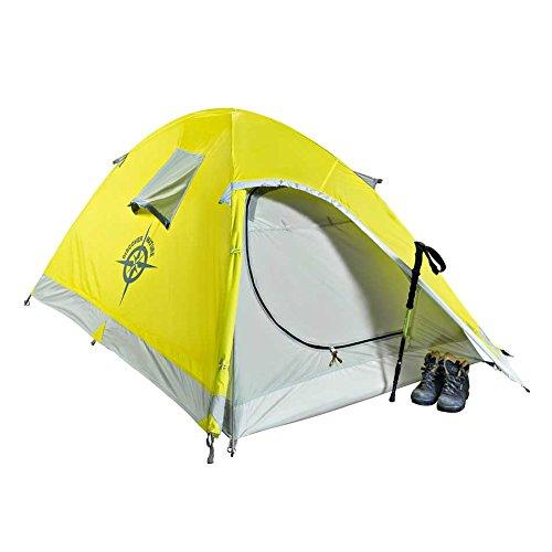 COLUMBUS Volga 2 Tente de Camping Mixte Adulte, Jaune/Gris, Unique