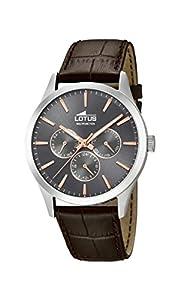 Lotus Watches Reloj Multiesfera para Hombre de Cuarzo con Correa en Cuero 18576/2