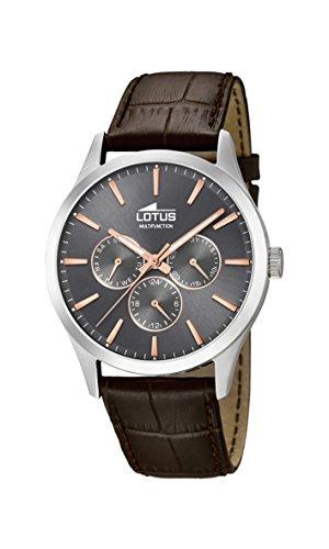 Lotus Watches Homme Multi-Cadrans Quartz Montre avec Bracelet en Cuir 18576/2