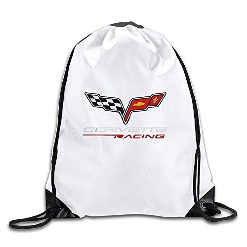 HLKPE Fashion Extreme Orts Motto Corvette Racing Drawstring Backpack Bag - Corvette 85