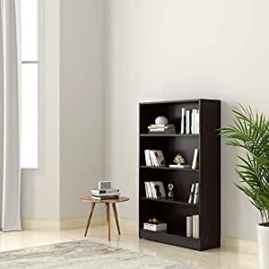 Amazon Brand - Solimo Glanville Engineered Wood Bookcase (Wenge)