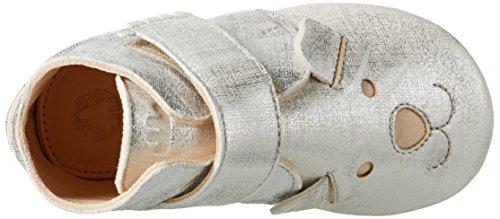 Easy Peasy - Kiny Teddy, Scarpine e pantofole primi passi Unisex – Bimbi 0-24 Silber (blanc filament argent)