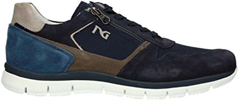 Nero Giardini P800350U - Zapatillas Para Hombre Azul Turquesa