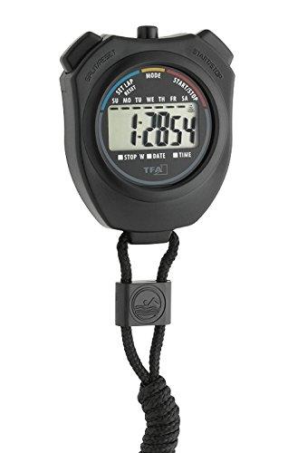 TFA con batería negras cronómetro 382030