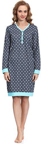 Cornette Camicia da Notte per Donna 654 2015 (Grafite, M)